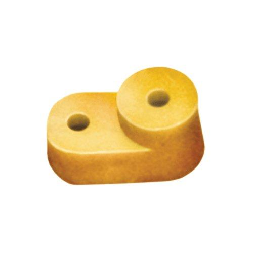 Фото Изолятор угловой для нулевой шины (желтый) Электробаза