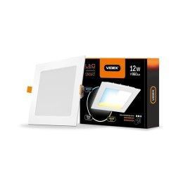 Світильник LED  з регулюванням кольоровості, вбудований квадратVIDEX 12W 3000-6200K 220V С3