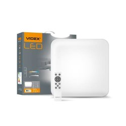 Світильник LED  функціональний квадрат VIDEX 72W 2800-6000K 220V