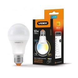 Лампа LED з регулюванням кольоровості VIDEX A60eC3 10W E27 220V