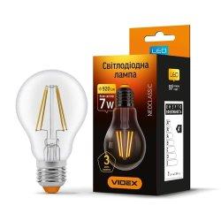Лампа LED  VIDEX Filament A60F 7W E27 4100K 220V