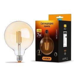 Лампа LED  VIDEX Filament G125FAD 7W E27 2200K 220V димерна