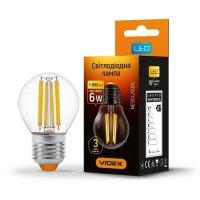 Фото Лампа LED  VIDEX Filament G45F 6W E27 4100K 220V