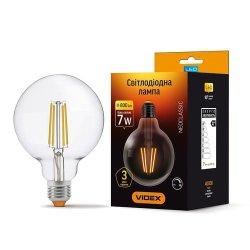 Лампа LED  VIDEX Filament G95FD 7W E27 4100K 220V димерна