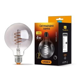 Лампа LED  VIDEX Filament G95FGD 4W E27 2100K 220V