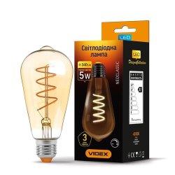 Лампа LED  VIDEX Filament ST64FASD 5W E27 2200K 220V димерна