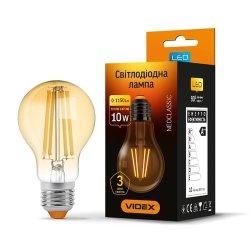 Лампа LED VIDEX Filament A60FA 10W E27 2200K 220V