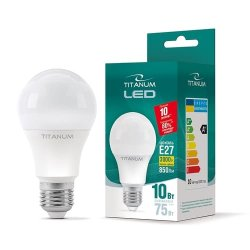 Лампа LED  TITANUM A60 10W E27 3000K 220V