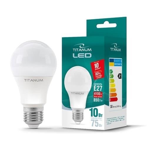 Фото Лампа LED  TITANUM A60 10W E27 4100K 220V Электробаза
