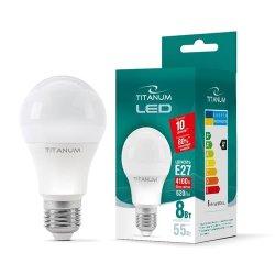 Лампа LED  TITANUM A60 8W E27 4100K 220V