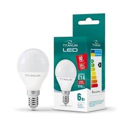 Лампа LED  TITANUM G45 6W E14 4100K 220V