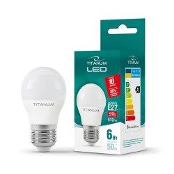 Лампа LED  TITANUM G45 6W E27 4100K 220V