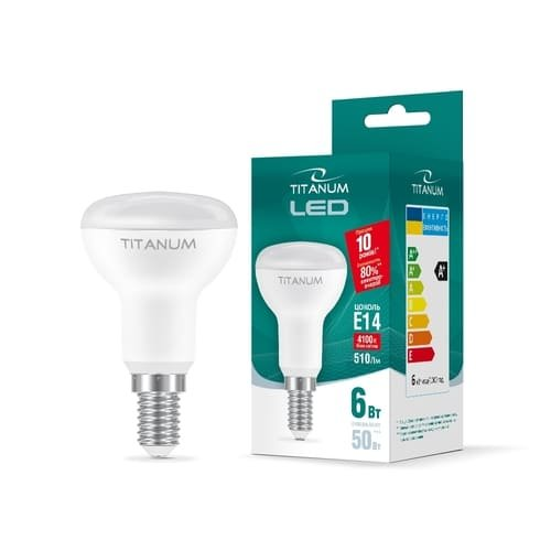 Фото Лампа LED  TITANUM R50 6W E14 4100K 220V Электробаза