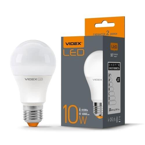 Фото Лампа LED VIDEX A60e 10W E27 4100K 220V Электробаза