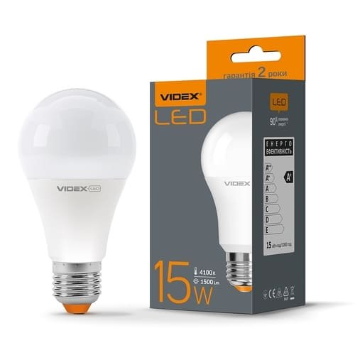 Фото Лампа LED VIDEX A65e 15W E27 4100K 220V Электробаза