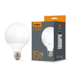 Лампа LED VIDEX G95e 15W E27 4100K 220V