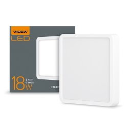 Світильник LED накладний  квадрат VIDEX 18W 5000K 220V