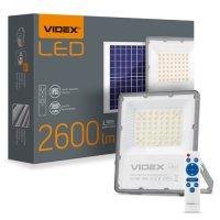 Фото Прожектор автономний LEDVIDEX 30W 5000K 3.2 V 3 шт