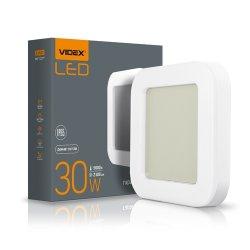 Світильник LED  ART ЖКХ квадрат VIDEX 30W 5000K 220V