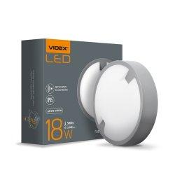 Світильник LED  ЖКХ  круглый VIDEX 18W 5000K 220V сенсорний