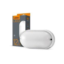 Світильник LED (ЖКХ) овальний VIDEX 12W 5000K 220V білий