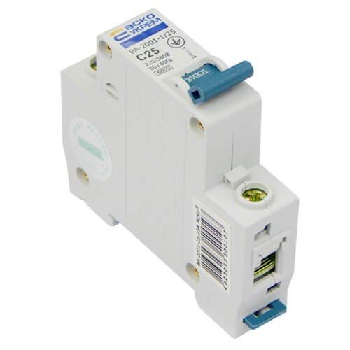 Автоматический выключатель ВА2001 1Р С 25А