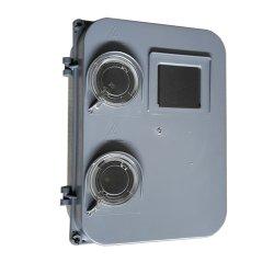 Электрический щиток фасадный под трёхфазный счётчик (2 окна)