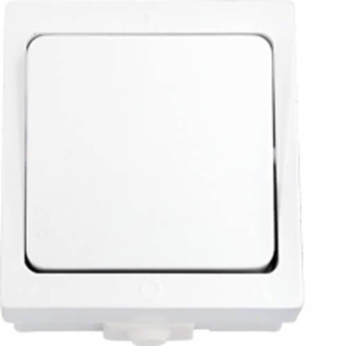 Фото Выключатель 1-кл наружный  влагозащитный А16-222 (60шт/уп) АБС Электробаза
