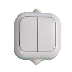 Выключатель 2-кл наружный  влагозащитный А56-224(60шт/уп) АБС