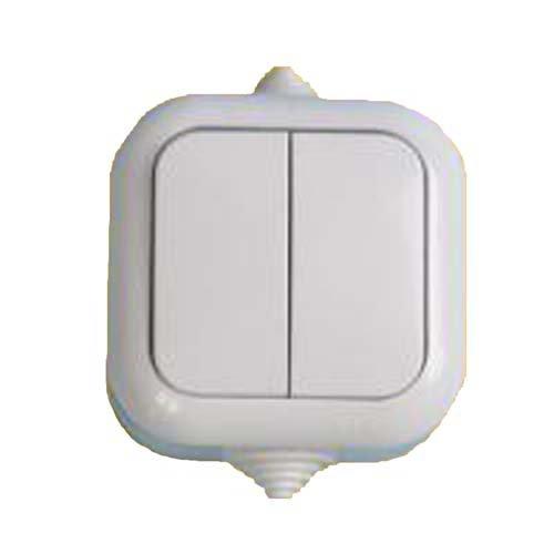 Фото Выключатель 2-кл наружный  влагозащитный А56-224(60шт/уп) АБС Электробаза