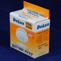 Фото Датчик движения Delux YCA1020В 360° черный