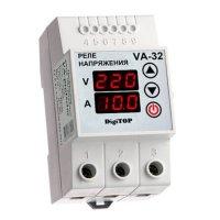 Реле напряжения с контролем тока V-protector VА-32А  DigiTOP
