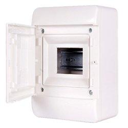 Корпус пластиковий, що вбудовується (PT) 9-модульний, однорядний, IP 30, з непрозорими дверцятами