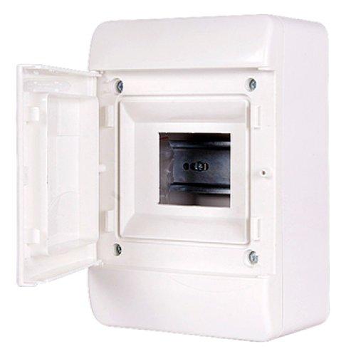 Фото Корпус пластиковий, навісний (NT) 5-модульний, однорядний, IP 40, з непрозорими дверцятами Электробаза