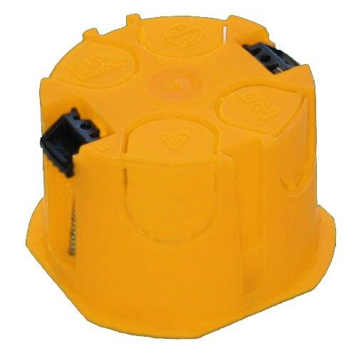 Фото Коробка установочная D60мм гипсокартон (желтая) Электробаза