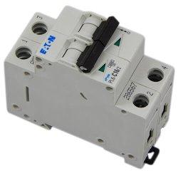 Автоматический выключатель Eaton, Moeller PL6-C 6кА 16А 2-полюс.