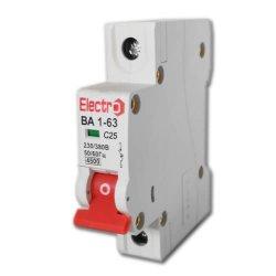 Автоматический выключатель ВА 1-63 1П/25А, С 4,5кА Electro