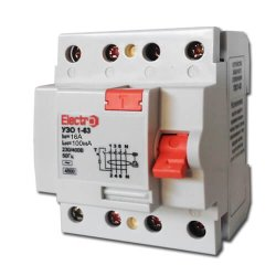 Устройство защитного отключения УЗО 1-63 3P+N 16А 100 mA тип С 4,5кА Electro