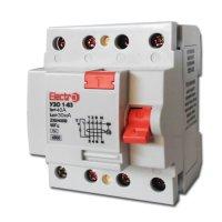 Фото Устройство защитного отключения УЗО 1-63 3P+N 40А 30 mA тип С 4,5кА Electro