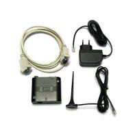 Фото модем + блок питания + антена + кабель-переходник RS232/USB