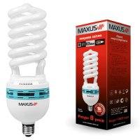 Фото Лампа энергосберегающая High-wattage Spiral 105W, 6500K, E40 MAXUS