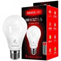 Фото Лампа светодиодная LED A60 10W 4100K 220V E27 AL MAXUS АК