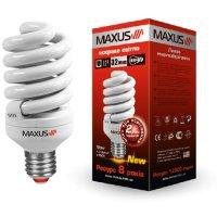 Фото Лампа энергосберегающая T2 Full Spiral 20W, 4100K, E27 MAXUS