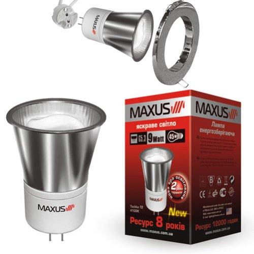 Фото Лампа энергосберегающая Tochka T2 10W 2700K G5.3 MAXUS Электробаза