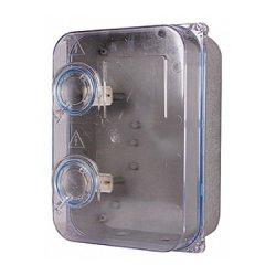 Шафа пластикова e.mbox.stand.plastic.n.f3.прозора, під трифазний лічильник, навісна, з комплектом ме