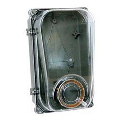 Шафа пластикова e.mbox.stand.plastic.n.f1.pe прозора, під однофазний лічильник, навісна