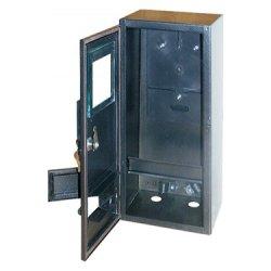 Шафа e.mbox.stand.n.f3.6.z.str металева, під 3-ф. лічильник, порожня, навісна, 6 мод., з замком, вул