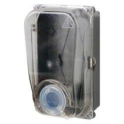 Шафа пластикова e.mbox.stand.plastic.n.f1.прозора, під однофазний лічильник, навісна з комплектом ме