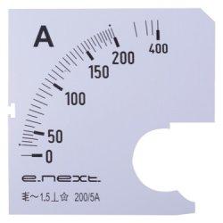 Шкала до амперметра щитового e.meter72.a100.scale АС 100А 72х72мм