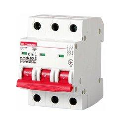 Трёхфазный автоматический выключатель 3р, 16А, C, 6кА new, e.mcb.pro.60.3.C 16 new
